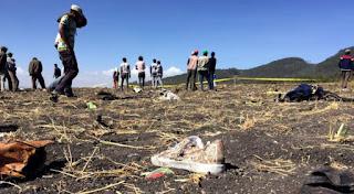 BOEING 737 Max crash site Ethiopia