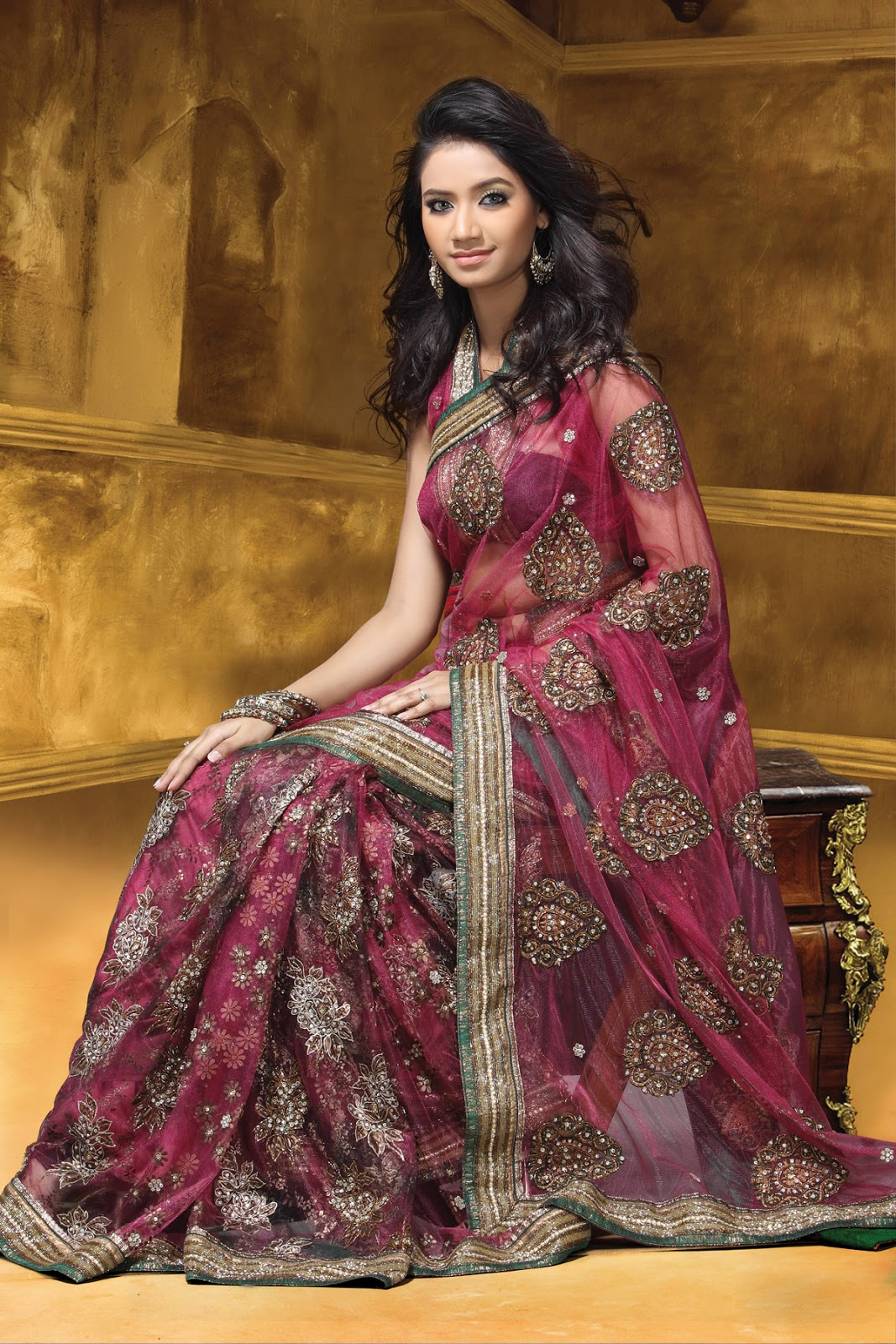Women Fashion: Indian Bridal Sarees For Women