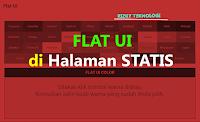 Memasang Flat UI Colour di Halaman Statis Blog