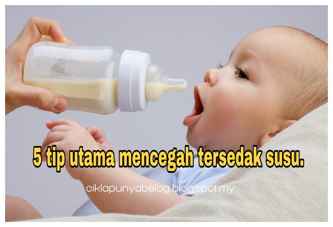 5 tip utama mencegah tersedak susu.