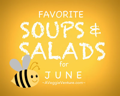 Tired of the same-old salads? Check out Seasonal Soups & Salads for June, a monthly feature ♥ A Veggie Venture