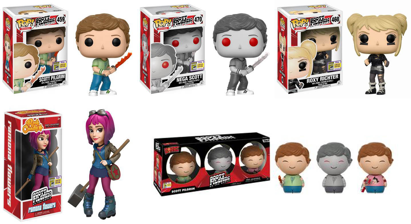 35bcb143ea344 Funko announced Wave 2 of their SDCC 2017 Exclusive which features  exclusives from Scott Pilgrim vs. The World! which are POP! Vinyl Scott  with Sword of ...