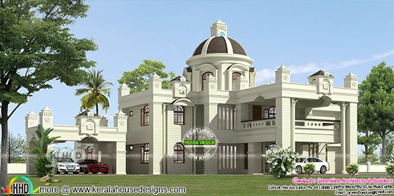 5 bedroom Colonial home plan architetcure