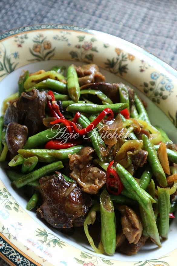Masak Ati Ayam : masak, Kacang, Panjang, Goreng, Kitchen