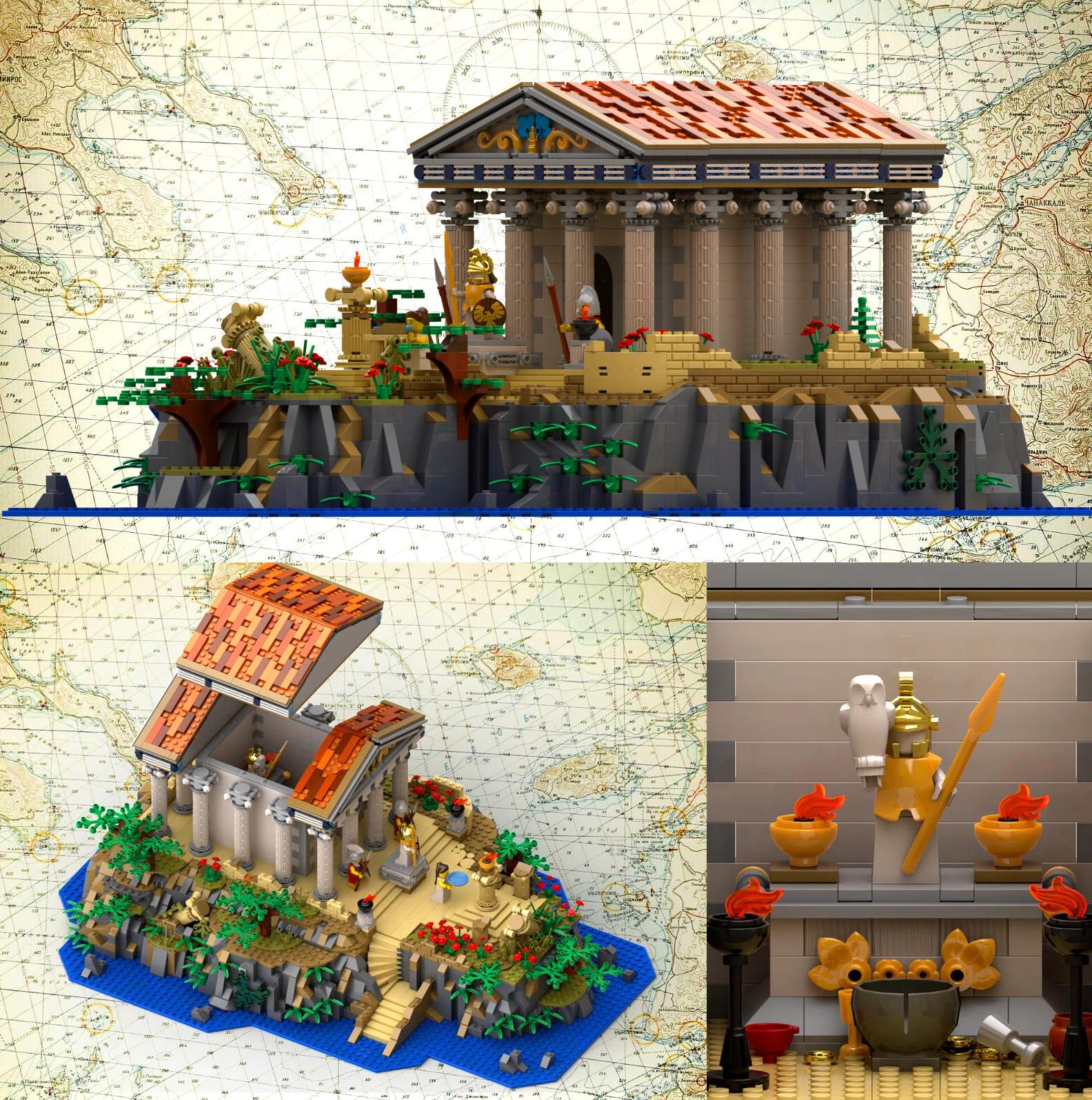 レゴアイデアで『古代ギリシャ神殿』が製品化レビュー進出!2021年第1回1万サポート獲得デザイン紹介