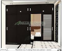 Lemari full plafon minimalis unit cabinet Lex