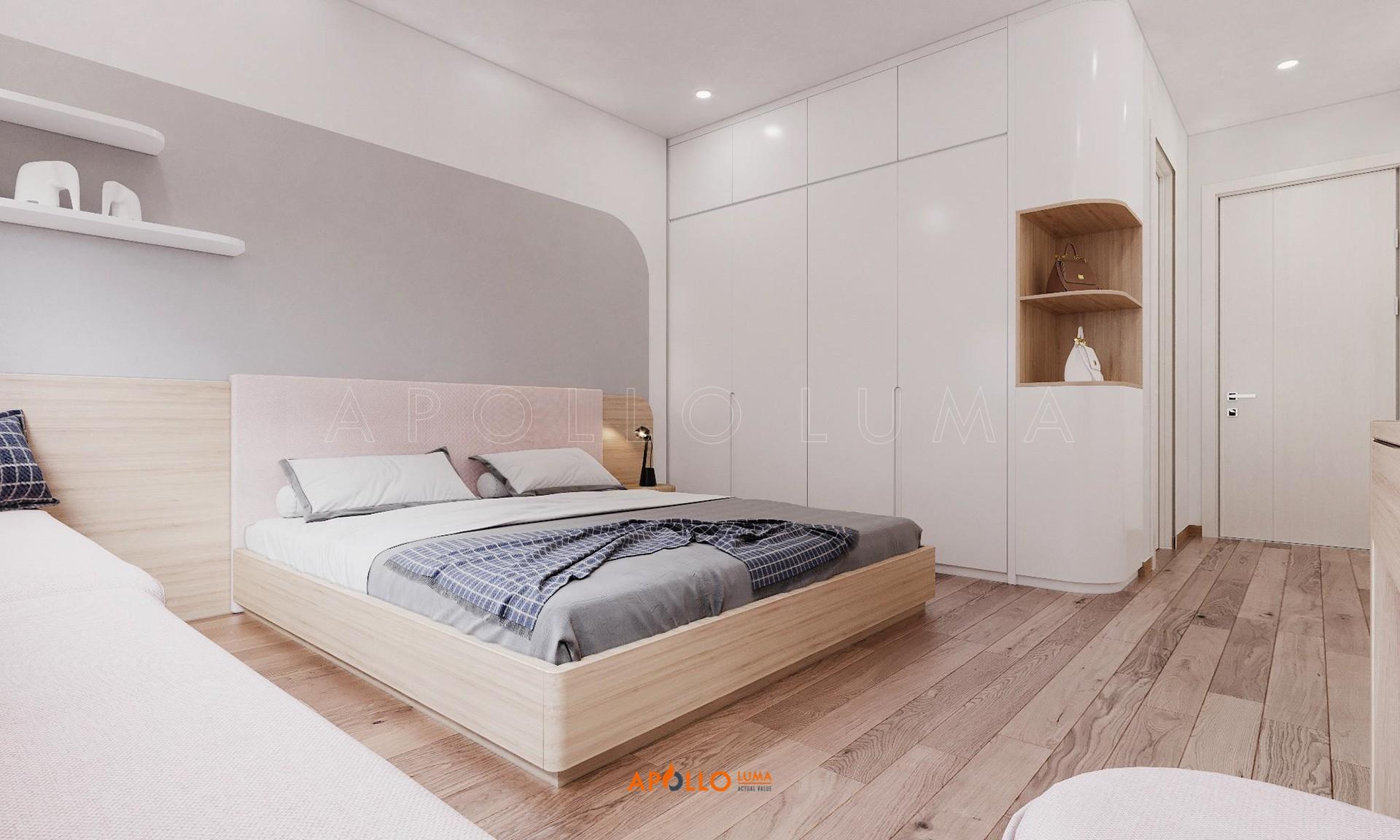 Thiết kế nội thất căn hộ 2 phòng ngủ (78.4m2) Premier Berriver Long Biên