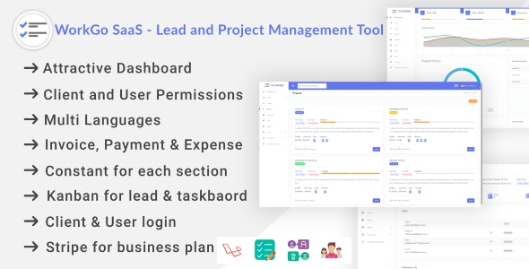 Download WorkGo SaaS - Lead and Project Management Tool