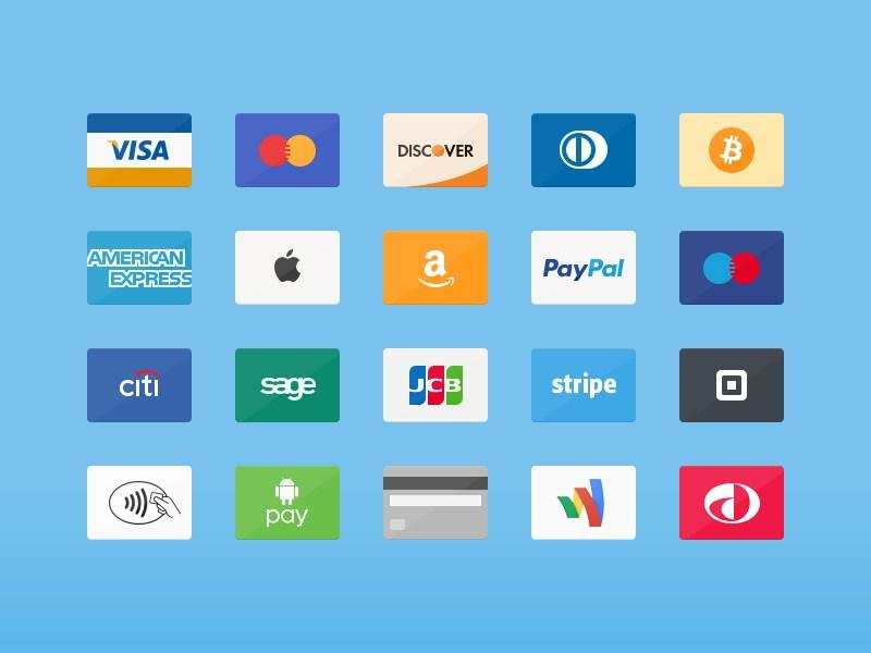 20 Free Credit Cards Icon Set