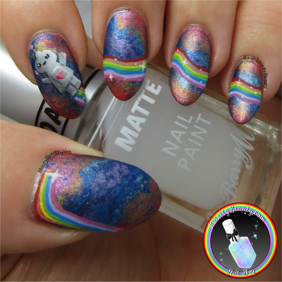 Little Rainbow Robot - Freehand Nail Art | IthinityBeauty.com Nail ...