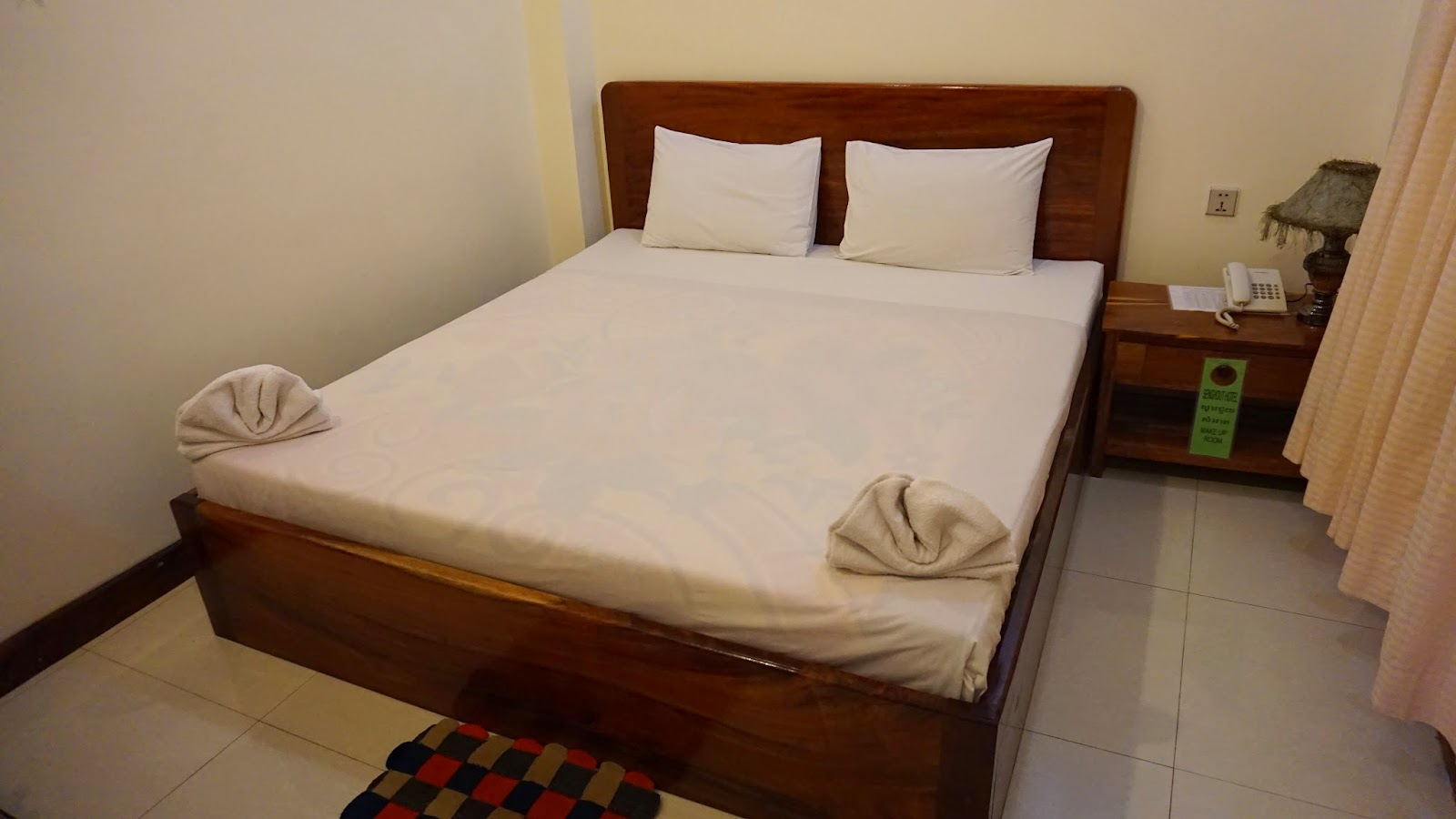 A quick glance at my room in Senghout Hotel. This was the nicest hotel I could find within my budget in Battambang