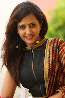 Lasya looks super cute in black choli Saree at Raja Meru Keka Press Meet ~  Exclusive 064.JPG