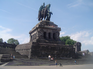 Koblenz statue Dutsches Eck William I emperor of Germany