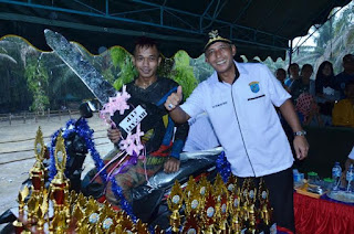 Ratusan Tracker Adu Tangguh di Kejuaraan grastrack Piala Bupati OKI