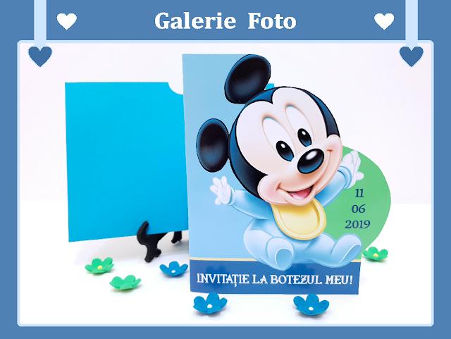 invitatii botez Mickey Mouse