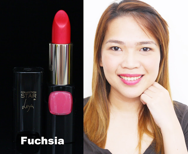 a photo of L'Oreal Color Riche Collection Star Velvet Pinks in Fuchsia