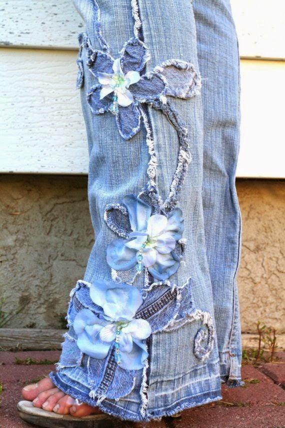 decorar con retales de tela vaquera