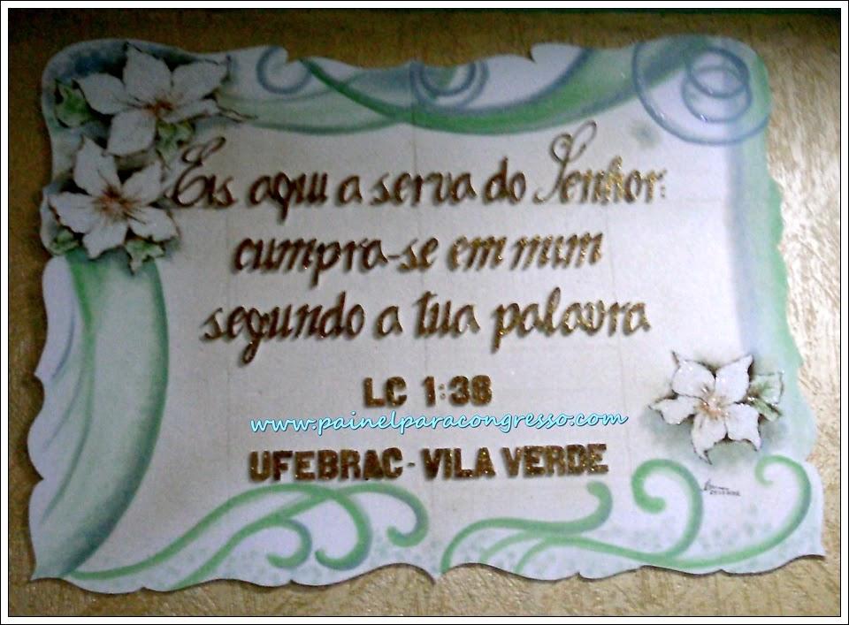 Painel decorativo para círculo de oração   /  Lucas 1:38