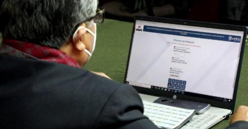 ONPE: Autoridades y representantes de la UNE serán elegidas a través de voto electrónico no presencial