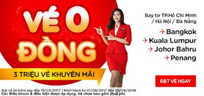 Ba triệu vé máy bay 0 đồng của Air Asia
