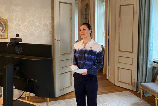 Crown Princess of Sweden, Victoria, attended a Virtual Symposium on the Antarctic Ecosystem