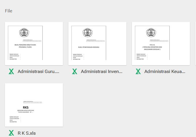 Contoh Administrasi Keuangan Sekolah Dilengkapi Administrasi Kepala Sekolah Sekolah Ayatulhusna