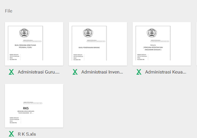 Contoh Administrasi Keuangan Sekolah Dilengkapi Administrasi Kepala Sekolah