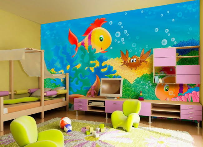 Simple Wall Painting Designs For Kids Bedroom Home Design Ideas
