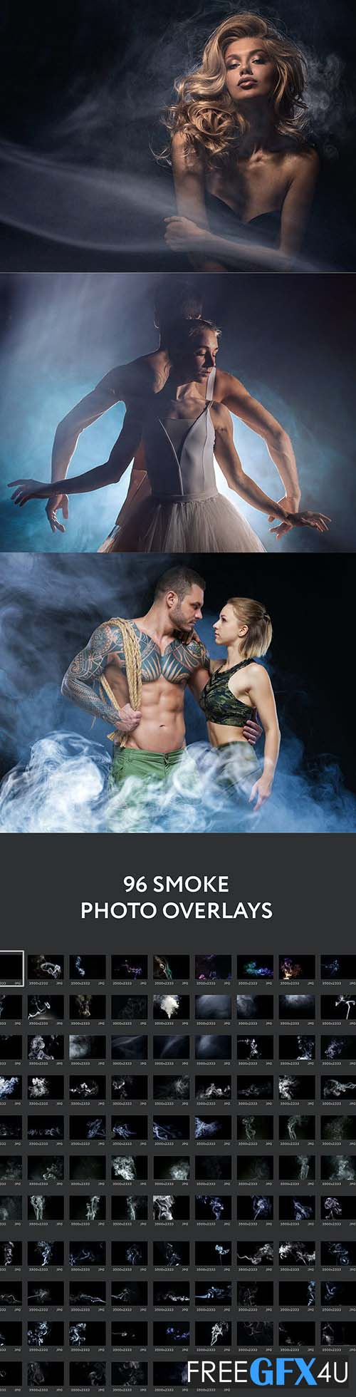 96 Realistic Smoke Photo Overlays