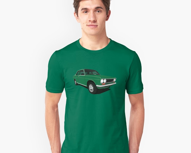 Green Datsun Bluebird 1600 510 t-shirt