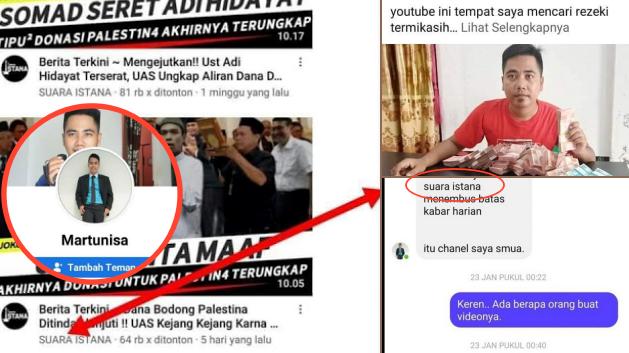 Diduga Pemilik Akun Youtube Pemfitnah UAH Viral, Martunisa Bukan Channel Saya
