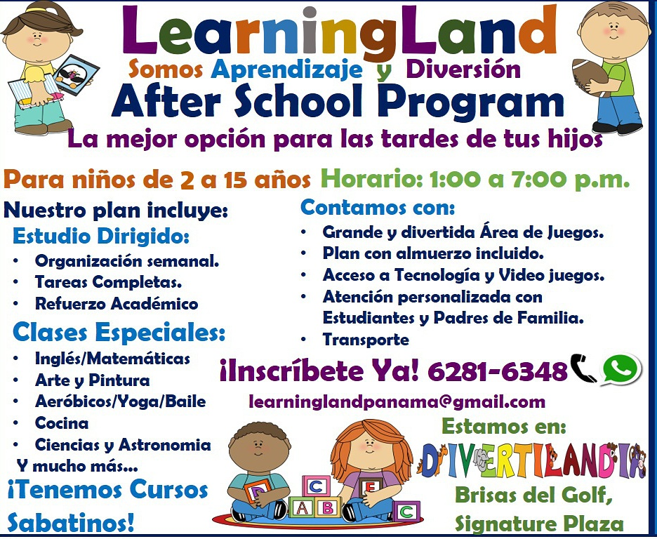 Learning Land presenta su after school