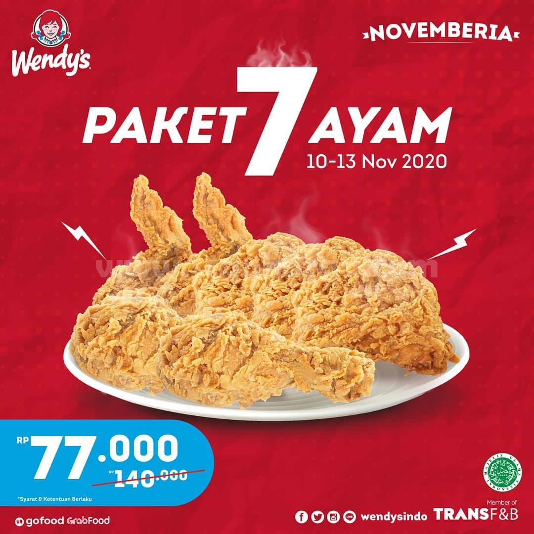 Promo Wendy's Terbaru - Diskon 50% untuk Paket 7 Ayam*