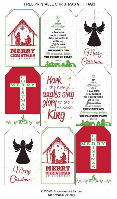 Christ Christmas tags
