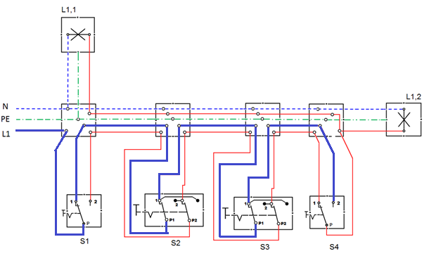 Komponen Dan Fungsi Alat Instalasi Penerangan Saklar Silang
