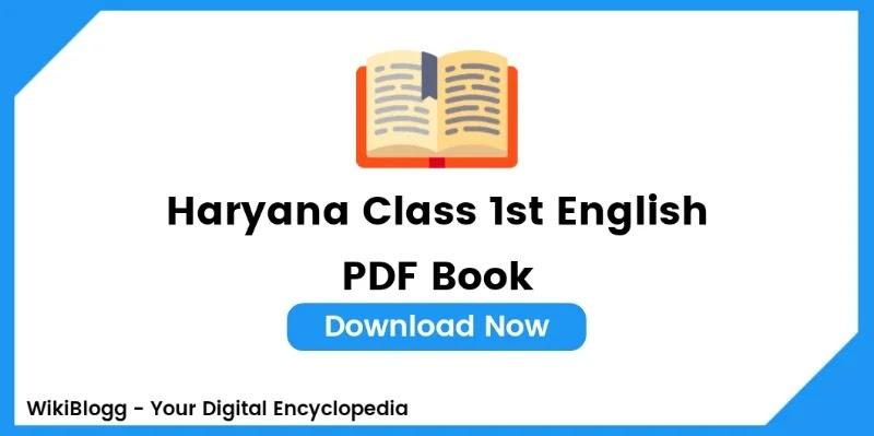Haryana Class 1 English Pdf Book Download