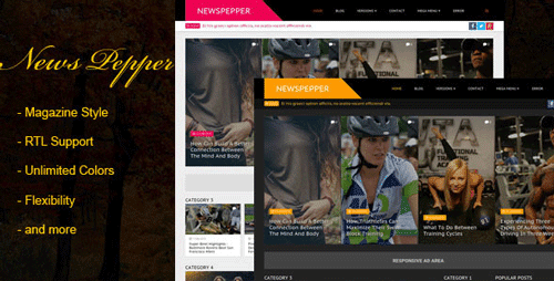 Responsive Blogger Magazine Template NewsPepper