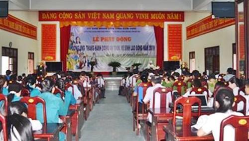 Kon Tum tổ chức Lễ phát động hưởng ứng Tháng hành động về An toàn, vệ sinh lao động năm 2019