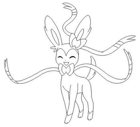 Sylveon Pokemon Coloring Pages - Free Pokemon Coloring Pages