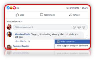How Do I Hide & Report Comments on Facebook