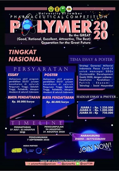 POLYMER (Pharmaceutical Competition of Jember University) 2020