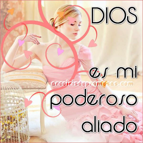 tienes a dios de tu parte reflexiones cristianas con imágenes arcoiris de promesas