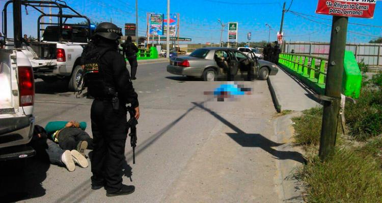 Se registró enfrentamiento entre sicarios y Fuerza Tamaulipas, deja a dos ejecutados.