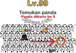 Jawaban Level 99 Brain Out Temukan Panda