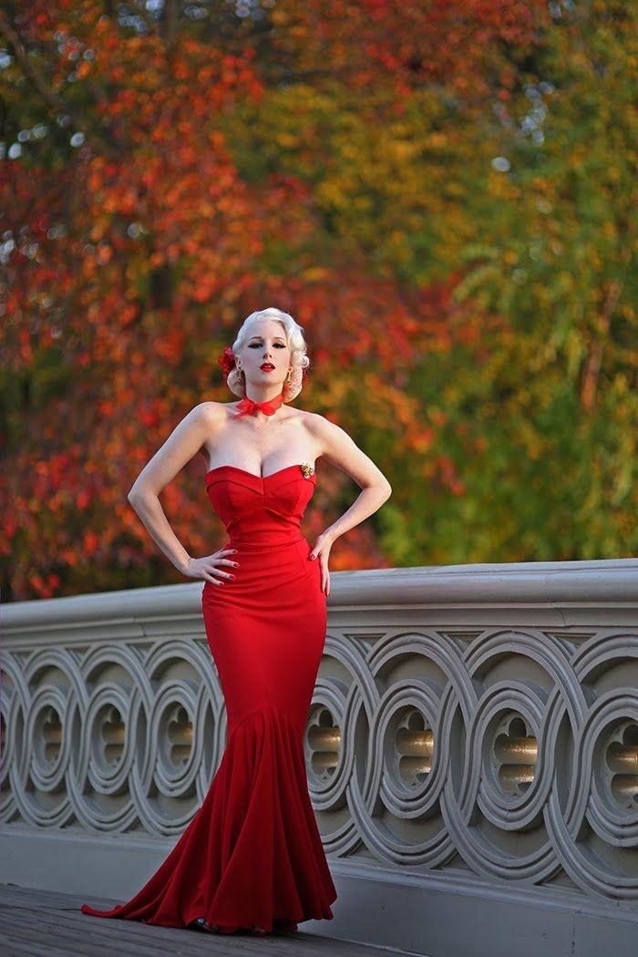 Dress: 50s style, 50s dress, pin up, long dress, black