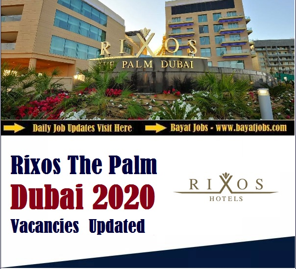 Rixos The Palm Dubai (Accor) Latest Careers | All Departments