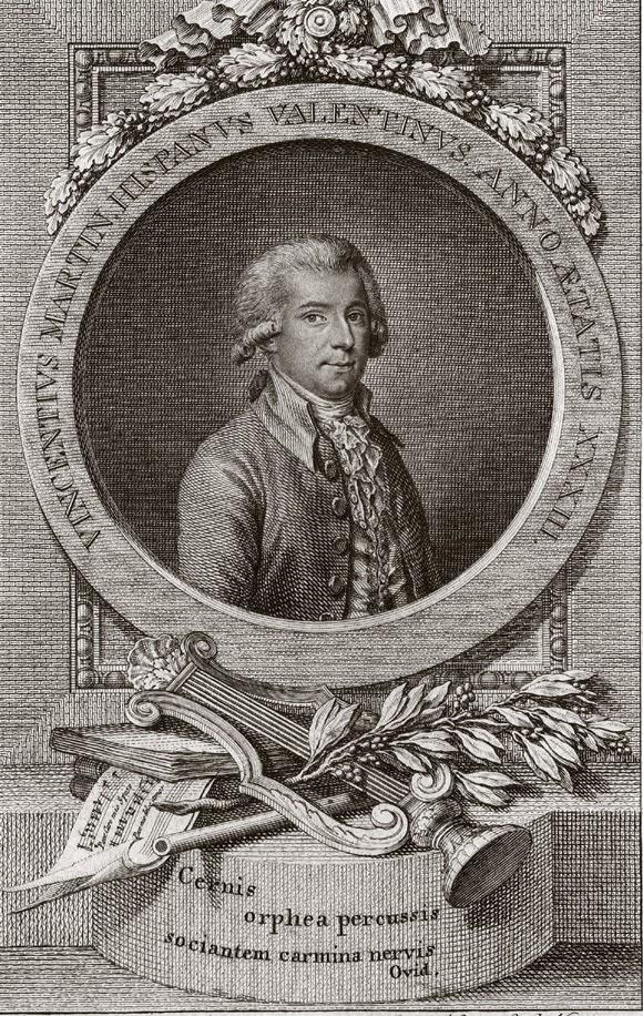 portrait du compositeur Vicente Martin y Soler