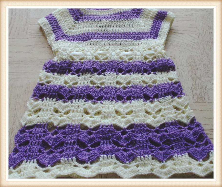 Sweet Nothings Crochet Beautiful Lotus Baby Dress