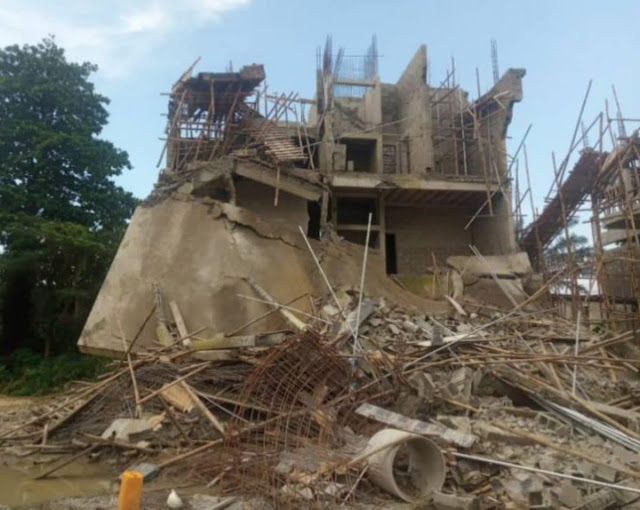 LASEMA pulls down 4 two-storey buildings in Lagos