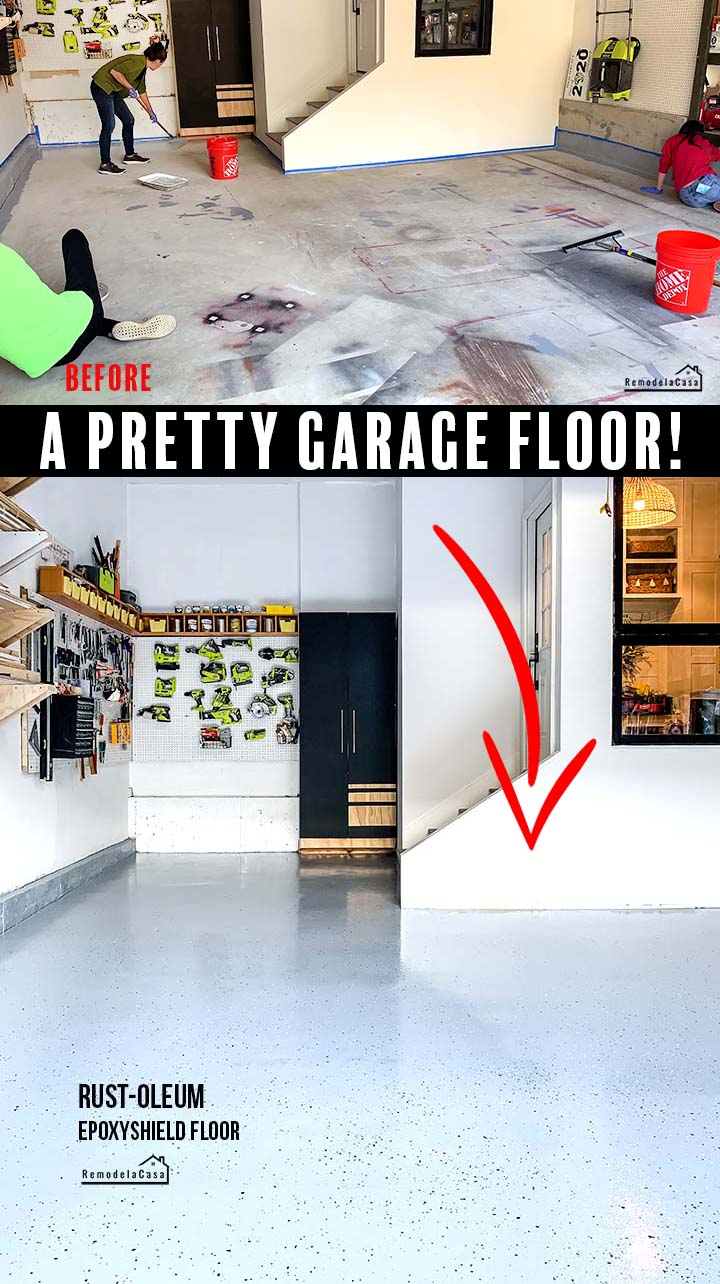 How to epoxy your garage floor - before and after